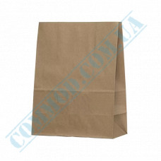Paper bags 280*210*115mm with rectangular bottom Kraft 70g/m2 100 pieces article 298