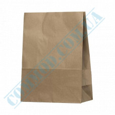 Paper bags 350*260*130mm with rectangular bottom Kraft 70g/m2 100 pieces article 686