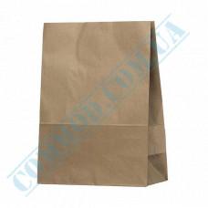 Kraft paper bags with rectangular bottom | 260*130*350mm | 70g/m2 | art. 686 | 100 pieces per pack