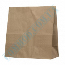 Paper bags 350*330*160mm with rectangular bottom Kraft 70g/m2 100 pieces article 684