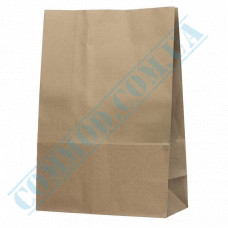 Paper bags 420*280*140mm with rectangular bottom Kraft 70g/m2 100 pieces article 685