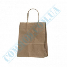 Paper bags 220*180*85mm with handles Kraft 70g/m2 (up to 3kg) 100 pieces article 687
