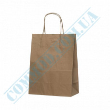 Paper bags 280*210*110mm with handles Kraft 70g/m2 (up to 3kg) 100 pieces article 698