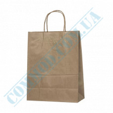 Paper bags 320*240*110mm with handles Kraft 70g/m2 (up to 7kg) 100 pieces per pack article 689