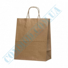Paper bags 320*250*140mm with handles Kraft 100g/m2 (up to 10kg) 100 pieces article 955