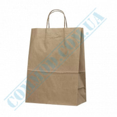 Paper bags 350*250*150mm with handles Kraft 70g/m2 (up to 7kg) 100 pieces per pack article 642