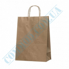Paper bags 350*260*130mm with handles Kraft 70g/m2 (up to 5kg) 100 pieces article 700
