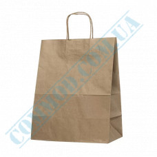 Paper bags 350*280*160mm with handles Kraft 70g/m2 (up to 8kg) 100 pieces article 1493