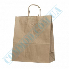 Paper bags 350*305*145mm with handles Kraft 70g/m2 (up to 7kg) 100 pieces article 688
