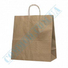 Paper bags 350*330*160mm with handles Kraft 70g/m2 (up to 5kg) 100 pieces per pack article 699