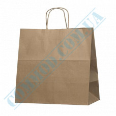 Paper bags 350*350*200mm with handles Kraft 120g/m2 (up to 10kg) 50 pieces article 1898