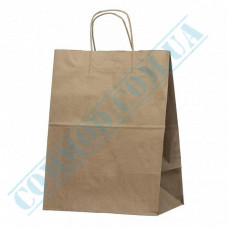 Paper bags 380*280*200mm with handles Kraft 80g/m2 (up to 5kg) 50 pieces article 3812