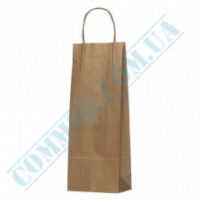 Paper bags 400*150*90mm with handles Kraft 100g/m2 (up to 5kg) 100 pieces article 1002