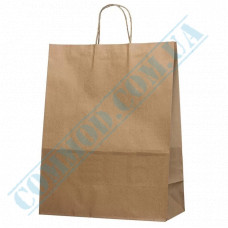 Paper bags 420*330*160mm with handles Kraft 100g/m2 (up to 10kg) 100 pieces article 640