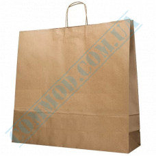 Paper bags 530*490*140mm with handles Kraft 100g/m2 (up to 10kg) 50 pieces per pack article 1653