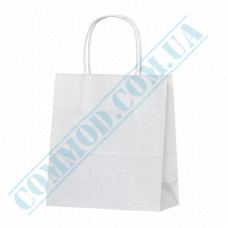 Paper bags 220*200*100mm with handles White 80g/m2 (up to 3kg) 100 pieces per pack article 690