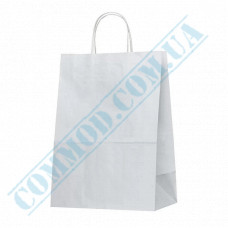 Paper bags 350*250*150mm with handles White 80g/m2 (up to 7kg) 100 pieces article 692