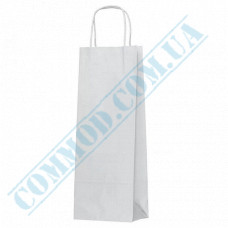 Paper bags 400*150*90mm with handles White 100g/m2 (up to 3kg) 100 pieces article 1228