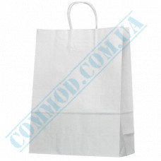 Paper bags 420*320*140mm with handles White 100g/m2 (up to 10kg) 100 pieces article 693