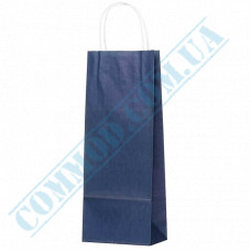 Paper bags 390*150*90mm with handles Dark Blue 100g/m2 (up to 5kg) 100 pieces per pack article 1233