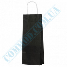 Paper bags 390*150*90mm with handles Black 100g/m2 (up to 5kg) 100 pieces article 1235