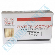 Wooden toothpicks | without individual packaging | 68mm | Linpac | 1000 pieces per pack