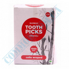 Toothpicks wooden 65mm 1000 pieces in individual plastic packaging KTP