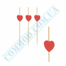 Bamboo canape skewers 7cm Heart 100 pieces PapStar (Germany) article 84665