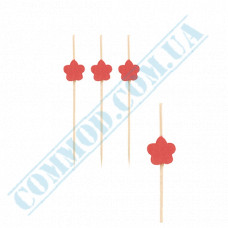 Bamboo canape skewers 7cm Flower 100 pieces PapStar (Germany) article 84667