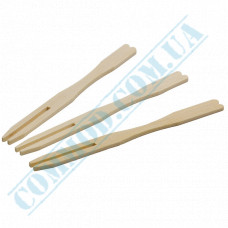 Bamboo canapé skewers 9cm Fork 100 pieces