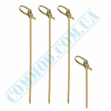Bamboo canape skewers 10cm Knot 100 pieces