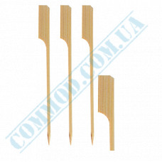 Bamboo canapé skewers 12cm Golf 100 pieces