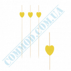 Bamboo canape skewers 12cm Heart 100 pieces PapStar (Germany) article 84666