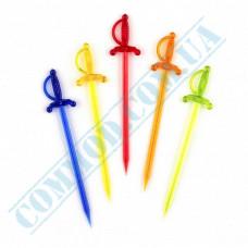 Plastic canapé skewers 8,5cm Swords colored 1000 pieces
