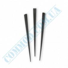 Plastic canapé skewers 9cm Prism black 1000 pieces