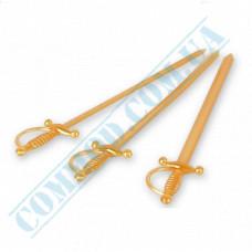 Plastic canapé skewers 15cm Swords gold 200 pieces Koegler (Germany) article 16162