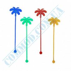 Stirrers for cocktails 18cm plastic colored Palm 100 pieces per pack