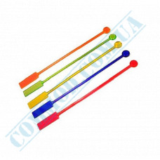 Stirrers for cocktails 20cm plastic colored Paddle 100 pieces per pack