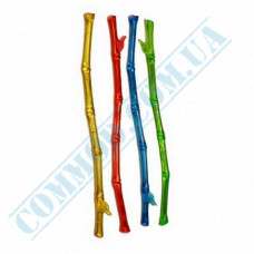 Stirrers for cocktails 20cm plastic colored Bamboo 100 pieces per pack