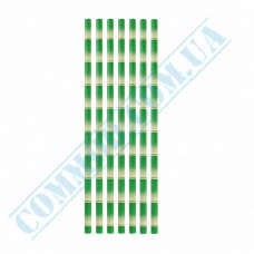 Drinking paper straws Ǿ=6mm L=200mm without corrugation bamboo 25 pieces per pack