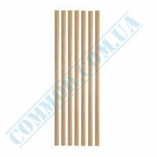 Drinking paper straws Ǿ=6mm L=200mm without corrugation kraft 25 pieces per pack