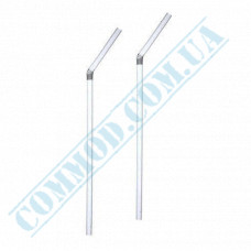 Straws for drinks   plastic   flexible   Ǿ=5mm L=210mm   Crystal   1000 pieces per pack