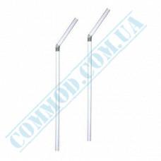 Plastic flexible drink straws Ǿ=5mm L=21cm transparent 1000 pieces per pack
