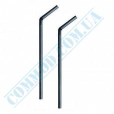 Plastic flexible drink straws Ǿ=5mm L=21cm black 1000 pieces per pack
