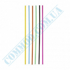 Pastic drinking straws for alcoholic beverages Ǿ=3mm L=18cm without corrugation colored 500 pieces per pack