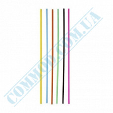 Straws for drinks   plastic   not flexible   Ǿ=3mm L=210mm   colored   500 pieces per pack