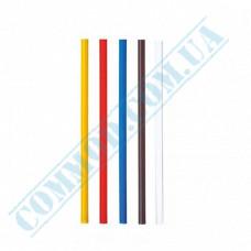 Plastic martini straws Ǿ=5mm L=12,5cm without corrugation colored 200 pieces per pack