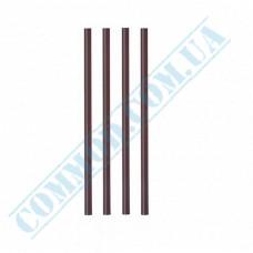 Plastic martini straws Ǿ=5mm L=12,5cm without corrugation black 200 pieces per pack