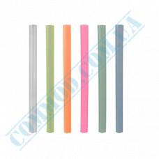 Plastic smoothie straws Ǿ=10mm L=19cm without corrugation colored 100 pieces per pack