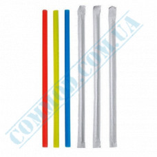 Cocktail straws   plastic   not flexible   Ǿ=7mm L=210mm   colored   individually in paper   200 pieces per package